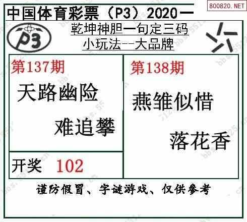 2020138期排列三图谜汇总