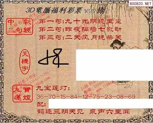 165期九宝图 寻码图
