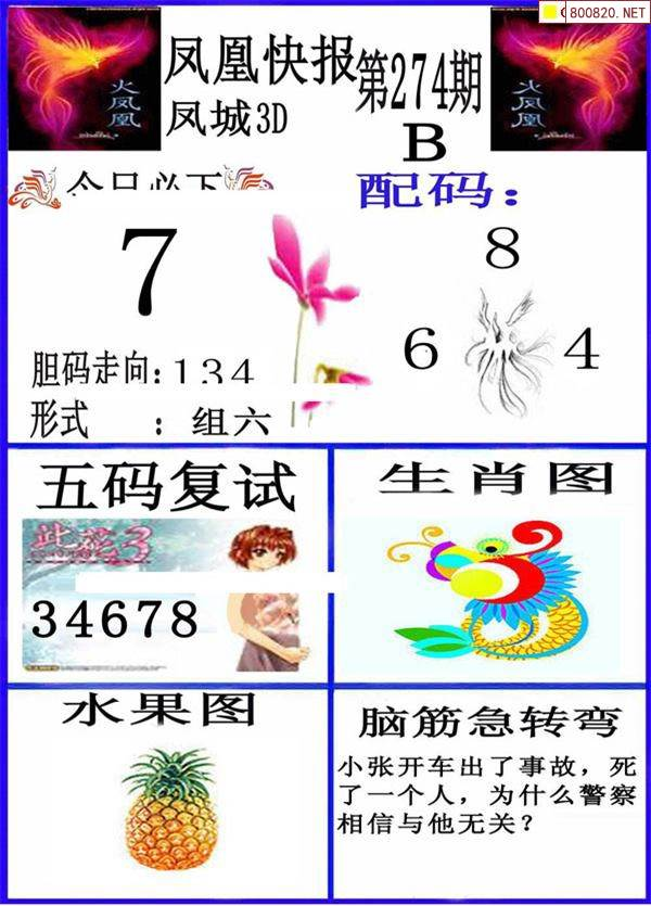 274期凤凰快报 港港彩报