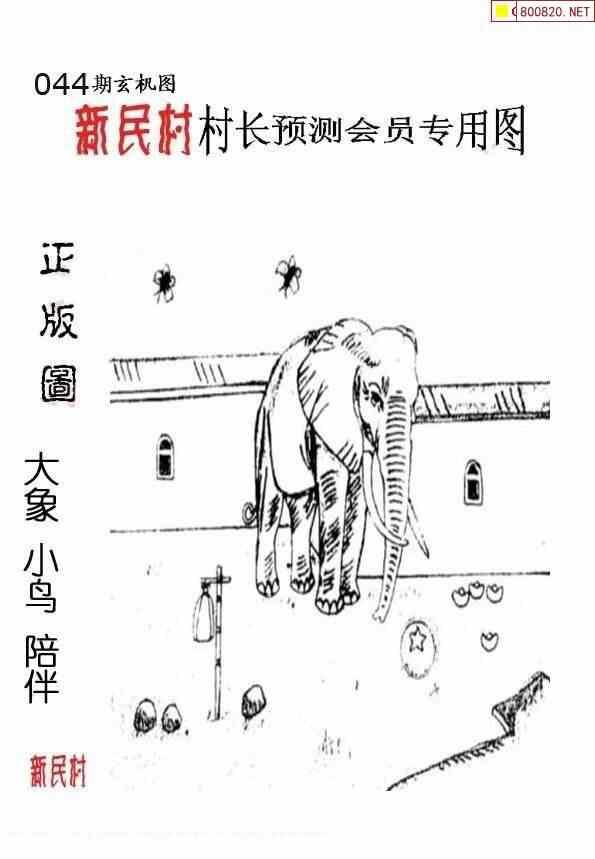 044期村长图福彩3D粮库图谜