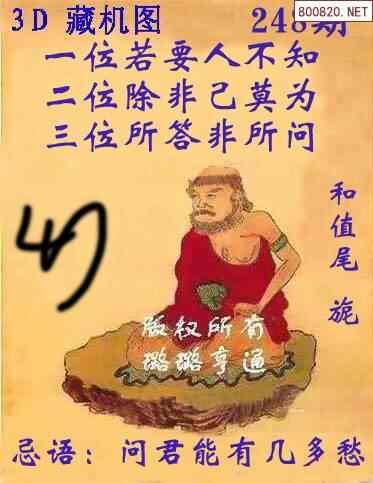 248期E族福彩3D图迷(藏机版)