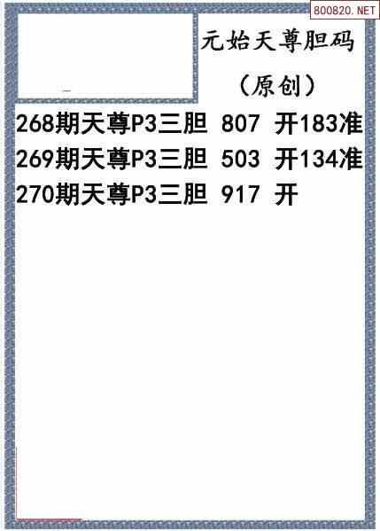 2021270期排列三图谜汇总