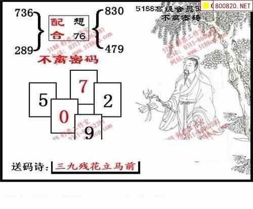 273期5188福彩3D图谜